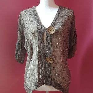 Lulu B Tops - Lulu B Mesh Short Sleeve Cardigan